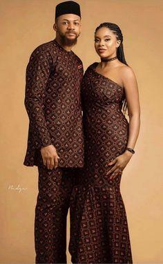 afrikanische hochzeiten Couple Goals - Make a Statement in These Stylish African Outfits by Diyanu . Couples African Outfits, African Dresses Men, African Clothing For Men, African Shirts, Couple Outfits, African Women, Nigerian Clothing, African Wedding Attire, African Attire