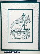 Handmade LIGHTHOUSE card ~ uses mostly Stampin Up products
