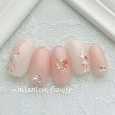 ネイル ネイル in 2020 Kawaii Nail Art, Cute Nail Art, Cute Acrylic Nails, Cute Nails, Gem Nails, Nail Manicure, Pink Nails, Hair And Nails, Pastel Nails