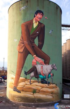 La storia della Sicilia dipinta sui Silos da street artist | INSIDEART