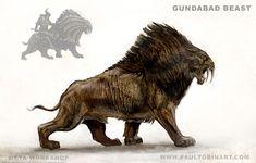 Gundabad Beast, Paul Tobin on ArtStation at https://www.artstation.com/artwork/dr5nK