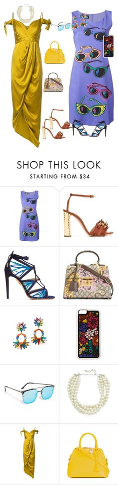"""Set your own style..."" by jamuna-kaalla ❤ liked on Polyvore featuring Jeremy Scott, Casadei, Aquazzura, Gucci, DANNIJO, Zero Gravity, Quay, Kenneth Jay Lane, Zimmermann and Maison Margiela"