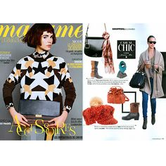 Press!   Mohair and wool scarf designed by Fine Collection, featured in @Madame Figaro