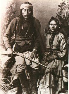 Naiche (son of Cochise) , Chiricahua Apache, and His Wife