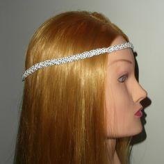 Headband tressé, en suédine clouté