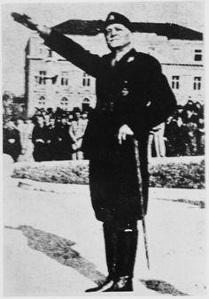 WWII. - 1942. - Croatia / NDH - Slavko Kvaternik - ministar obrane - Komandant ustaša - pin by Paolo Marzioli
