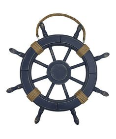 Loving this Blue Roped Ship Wheel Wall Décor on #zulily! #zulilyfinds