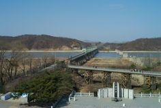 Freedom Bridge - DMZ - South Korea - Puppet Kingdom across the river - It changed many lives - Look it up!