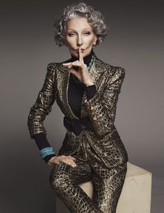 Alicia Borras - Project by Jose Herrera, on Behance Alicia Borras, Stylish Older Women, Beautiful Old Woman, Aged To Perfection, Advanced Style, Ageless Beauty, Aging Gracefully, Fashion Beauty, Fashion Tips