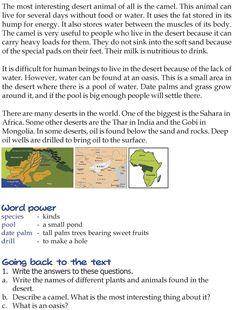 Grade 3 Reading Lesson 21 Nonfiction - Deserts (1)