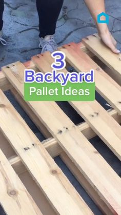 Diy Garden Projects, Outdoor Projects, Diy Home Projects Easy, Do It Yourself Projects, Wooden Pallet Projects, Pallet Crafts, Backyard Pallet Ideas, Diy Crafts For Home Decor, Creative Crafts