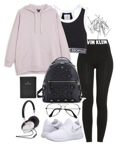 """Untitled #3597"" by theeuropeancloset on Polyvore featuring Calvin Klein, Topshop, Monki, NIKE, Fendi, ZeroUV, FOSSIL and Forever 21"