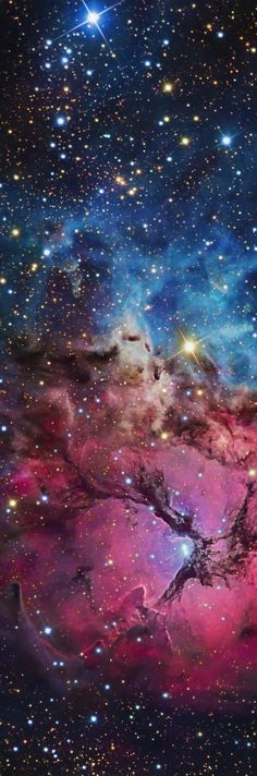 Nebula of Stars and Colorful Gas - Long, Tall, Vertical Pins
