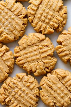 Vegan Peanut Butter Cookies - Easy to make and easier to eat thick soft and chewy homemade peanut butter cookies made in 1 bowl with peanut butter flour sugar vanilla and almond milk are the best Homemade Peanut Butter Cookies, Best Peanut Butter, Peanut Butter Recipes, Peanut Cookies, Cookies Vegan, Vegan Dishes, Vegan Desserts, Dessert Recipes, Vegan Sweets