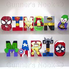 FLASH SALE Superhero Letters Price Per Letter por GunnersNook