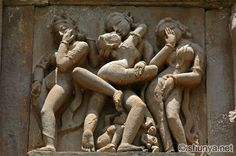 The Khajuraho temples in India.   ChitraguptaTemple