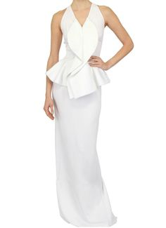 @GIVENCHY Shiny Stretch Jersey Peplum Long Dress via @Upscale Hype    #FOLLOW #TWITTER