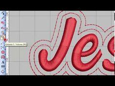 Curso Wilcom # Aula 19 criando nomes com contorno deslocado - YouTube Youtube, Videos, Contouring, Names, Madeira, Needlepoint, Embroidery Machines, Lyrics, Art