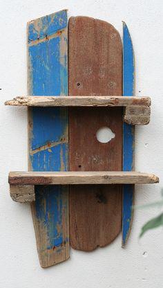 Driftwood shelf, Driftwood fishing boat shelves, Driftwood Wall Shelves,Cornwall £130.00