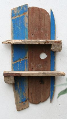 Driftwood shelf, Driftwood fishing boat shelves, Driftwood Wall Shelves,Cornwall £130.00