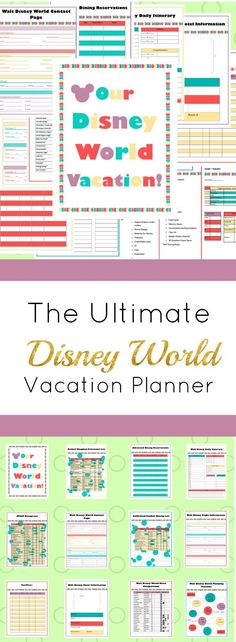 Wow!! This is an AWESOME planner!!! All you'll ever need | Disney World Planner | Disneyworld | Vacation |