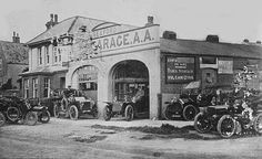 This was the original French's Garage (Now Mardon Motor's) before they moved to opposite the bottom end of Saxon Lane but still in Steyne Road ( Now French's Court Flats ) The owner was Benjamin French ( My Grandfathers brother) and his two son's James & Alan this picture shows them sitting in the cars.