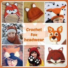 Crochet Fox headwear #freecrochetpattern
