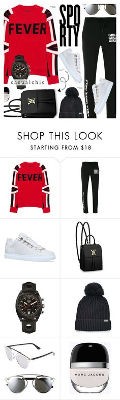 """""""Sporty style"""" by cly88 ❤ liked on Polyvore featuring Zadig & Voltaire, Brashy, Balenciaga, Louis Vuitton, TAG Heuer, Converse, Christian Dior and Marc Jacobs"""