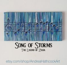 Legend of Zelda Inspired Song of Storms Music by AndreaHathcockArt