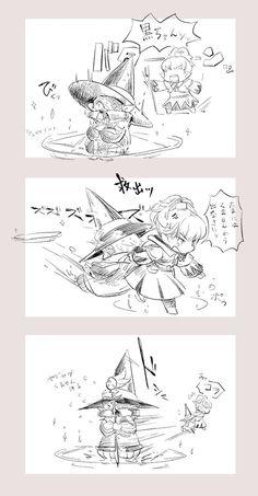"""QQさんのツイート: """"白ちゃんと黒ちゃ"""
