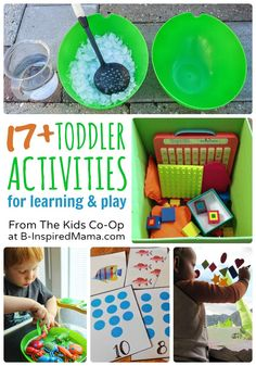 17+ Toddler Activities from The Weekly Kids Co-Op - #kids #play #toddler #kbn #binspiredmama