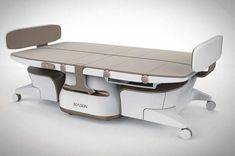 Besides having dual-functions Medical Bed-Chair Robot is also designed to assist moving and changing the posture of patients with physical disabilities. Medical Health Care, Medical Spa, Medical Humor, Medical Pictures, Medical Design, Fitness Motivation Pictures, Medical Illustration, Medical Equipment, Chairs