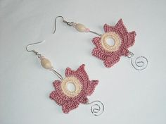 Spring Crochet earrings - Hungarian embroidery patterns | http://coolearringscollections877.blogspot.com