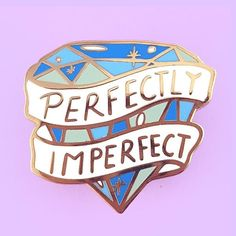 Perfectly Imperfect Lapel Pin Liquid Luck, Hard Enamel Pin, Pin Enamel, Be Your Own Hero, Stay Weird, Coffee And Books, Cute Pins, Weird Art, Mischief Managed