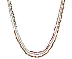 Lena Skadegard | Garnet, Pearl, Pyrite, Ruby and Labradorite Necklace in Necklaces Beads at TWISTonline