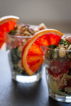 Blood Orange, Quinoa, & Kale Salad with Orange Champagne Vinaigrette | Edible Perspective