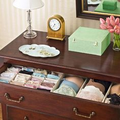 Tips for Organizing Your Undergarments: It seems impossible for something as small as a pair of panties to cause such a mess, but your overflowing dresser drawer begs to differ.