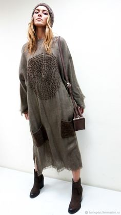 """Платье в стиле бохо """"Мила карамель"""" – купить в интернет-магазине на Ярмарке Мастеров с доставкой"""