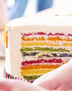 Rainbow birthday cak