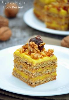 Krantz Cake, Baby Food Recipes, Cooking Recipes, Romanian Food, Romanian Recipes, Something Sweet, Confectionery, Beautiful Cakes, Yummy Cakes