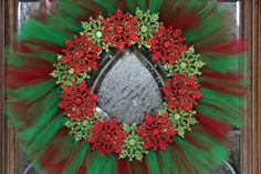 Christmas Tulle Wreath by NicolesFineCrafts on Etsy