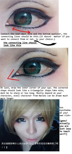 Eye makeup example. Mine is usually heavier but this is a more ideal demonstration of crisp linework. Im still learning.