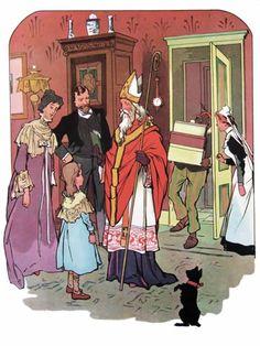 Sint Nicolaas Vintage Santas, Merry Christmas, Anime, Painting, Victorian Christmas, December, Cards, Nostalgia, Merry Little Christmas