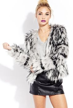 Be Seen Shag Jacket | FOREVER21 Be the center of attention #Capsule #Coat #FauxLeather #ForeverHoliday