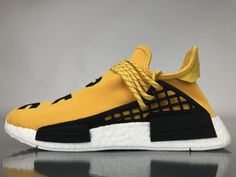 "7c83393450fdf Pharrell Williams x Adidas NMD Human Race ""Yellow"" Real Boost BB0619 Cool  Adidas Shoes"