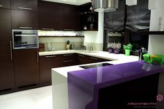 Showcase and discover creative work on the world's leading online platform for creative industries. Creative Industries, Warsaw, Purple, Pink, Decorating Ideas, Kitchen Cabinets, Industrial, Platform, Rooms