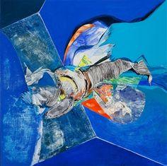 "Demetra Tassiou, ""Escape"" | Acrylic & Mixed Media on Panel | $3,000 | Source: www.art-mine.com/... | Agora Gallery | Contemporary Fine Art | NYC, NY."