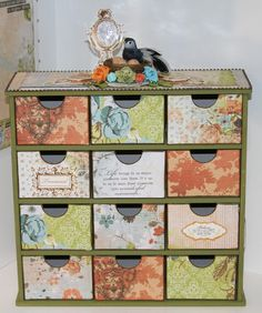 Altered Storage Chest Www Tarascraftstudio Com Taras Studio Card Designs Pinterest Storage Craft Storage And Craft
