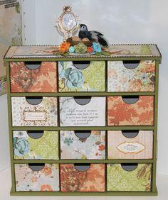 Kaisercraft's 12 drawer storage box So pretty