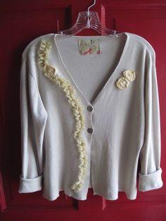 Lagenlook Renaissance Gypsy Magnolia Sweater Bohemian Pearl Victorian Revival Texas Romantic Winter Shabby Chic X Hippie BoHo Altered Floral...